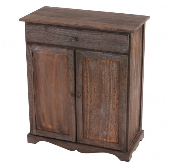 armoire commode, 78x66x33cm, Vintage Shabby chic ~ brun