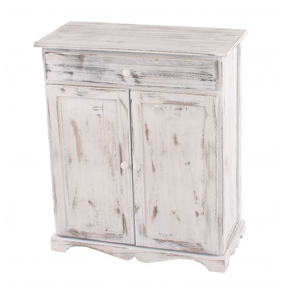 armoire commode, 78x66x33cm, Shabby blanc vintage chic ~