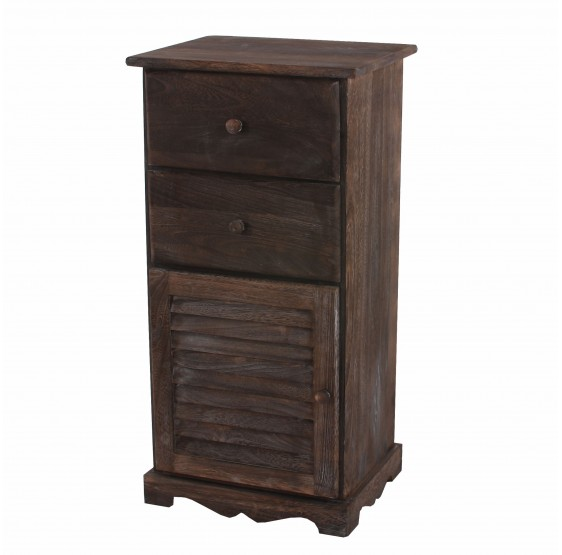 armoire commode, 81x40x32cm, Vintage Shabby chic ~ brun
