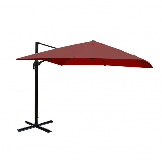 Restauration parasol de luxe Aluminium 3x4m bordeaux ~ sans support