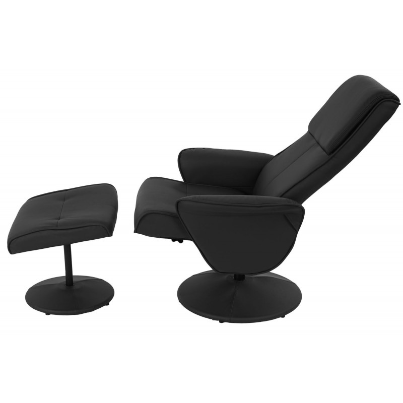 fauteuils fauteuil relax helsinki pr sident de tv transat chaises chaise tv avec pouf simili. Black Bedroom Furniture Sets. Home Design Ideas
