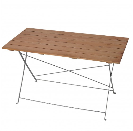 Table de jardin, pliante, 120 x 60 x 70 cm