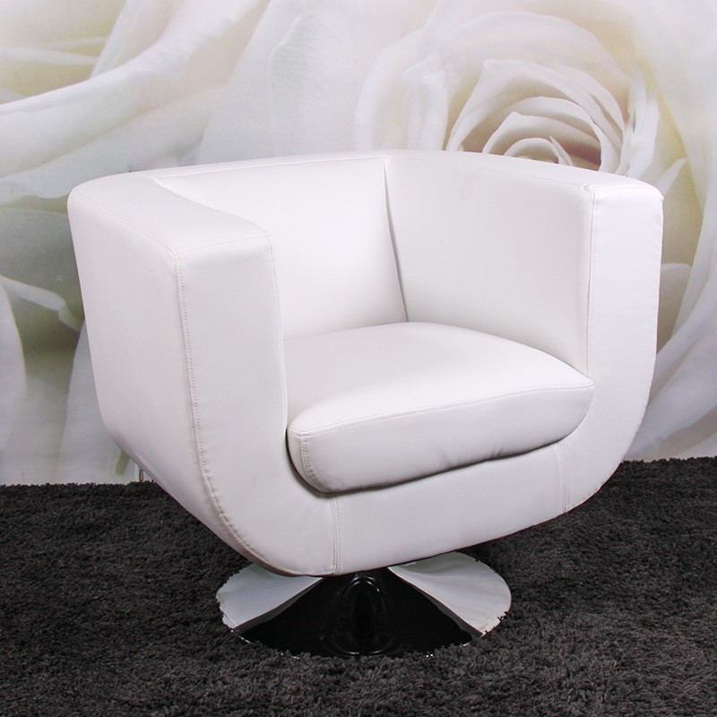 fauteuils chaise longue bar fauteuil club treviso ii blanc. Black Bedroom Furniture Sets. Home Design Ideas