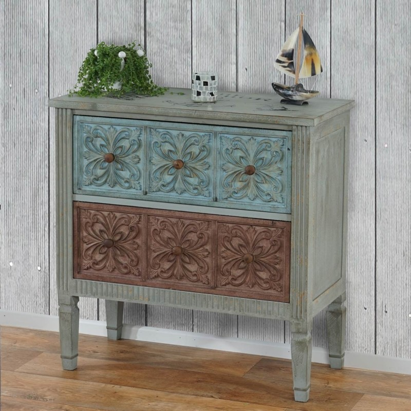 vintage commode aveiro buffet armoire shabby chic vintage 80x79x40cm. Black Bedroom Furniture Sets. Home Design Ideas