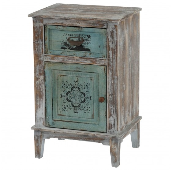 Commode Murcia armoire shabby chic vintage, 75x48x36cm