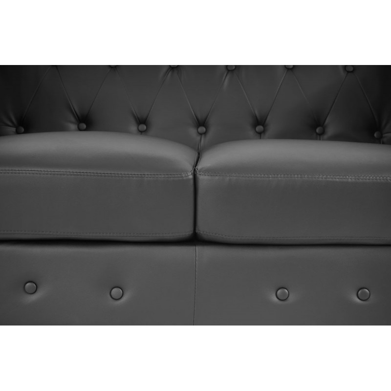 Canap s luxe 2 places canap lit salon commodeerfield for Canape simili cuir marron