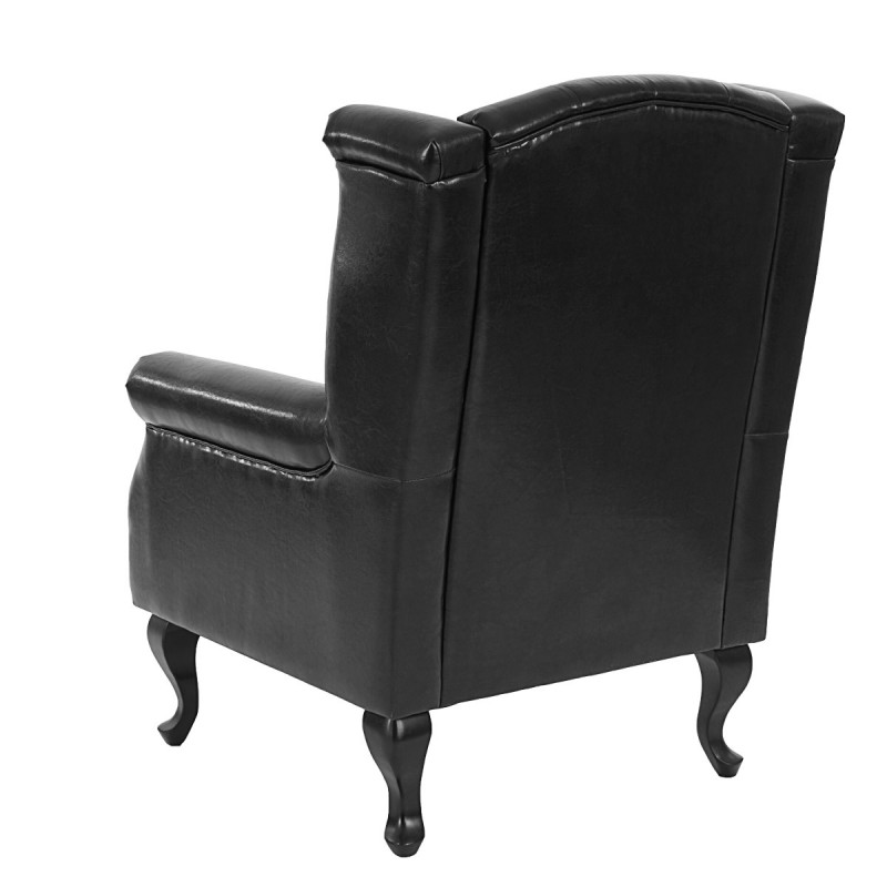 fauteuils fauteuil inclinable fauteuil club fauteuil commodeerfield similicuir noir sans pouf. Black Bedroom Furniture Sets. Home Design Ideas