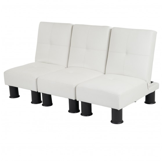 Canap s chaise 3x relax canap lit d 39 invit divan for Canape simili cuir blanc