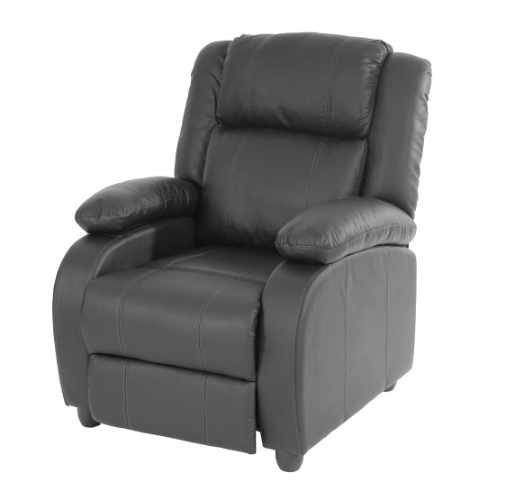 chaise TV fauteuil inclinable fauteuil Lincoln, similicuir noir
