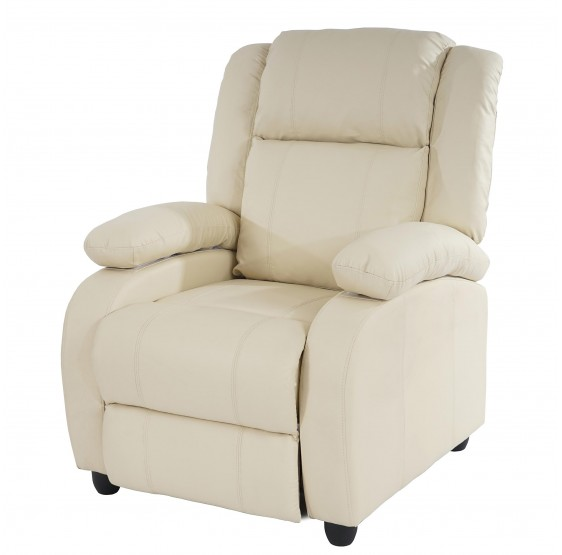 chaise TV fauteuil inclinable fauteuil Lincoln, créme similicuir