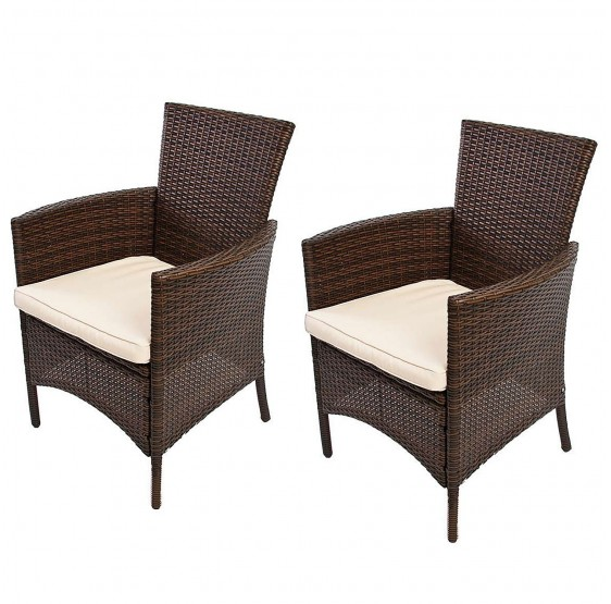 fauteuils chaise poly rotin luxe aluminium jardin chaises en osier romv 85 5x61x60 gris naturels cm. Black Bedroom Furniture Sets. Home Design Ideas