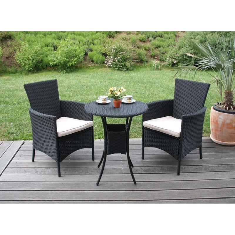 fauteuils lot de 2 fauteuil de jardin chaises en osier romv polyrotin anthracite 85 5x61x60 cm. Black Bedroom Furniture Sets. Home Design Ideas