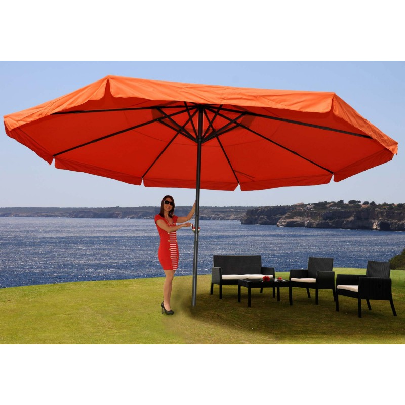 parasol parapluie en aluminium meran parasol de march de la gastronomie avec volant r 5m. Black Bedroom Furniture Sets. Home Design Ideas