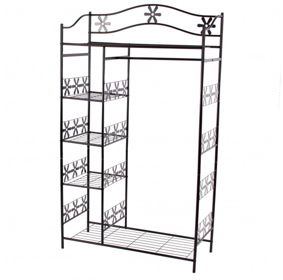 Dressing armoire m tallique porte manteau placard for Porte metallique