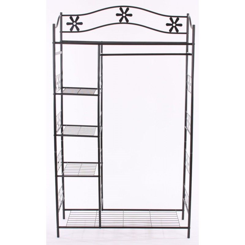 dressing armoire m tallique porte manteau placard. Black Bedroom Furniture Sets. Home Design Ideas