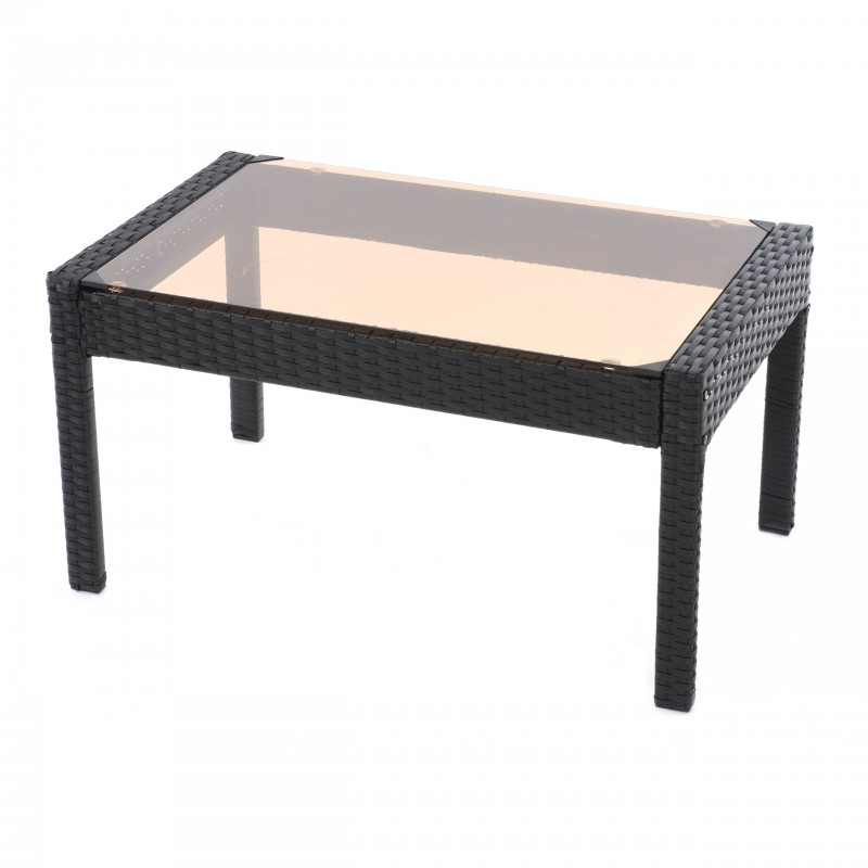 Table basse de jardin plateau verre for Grande table de jardin verre
