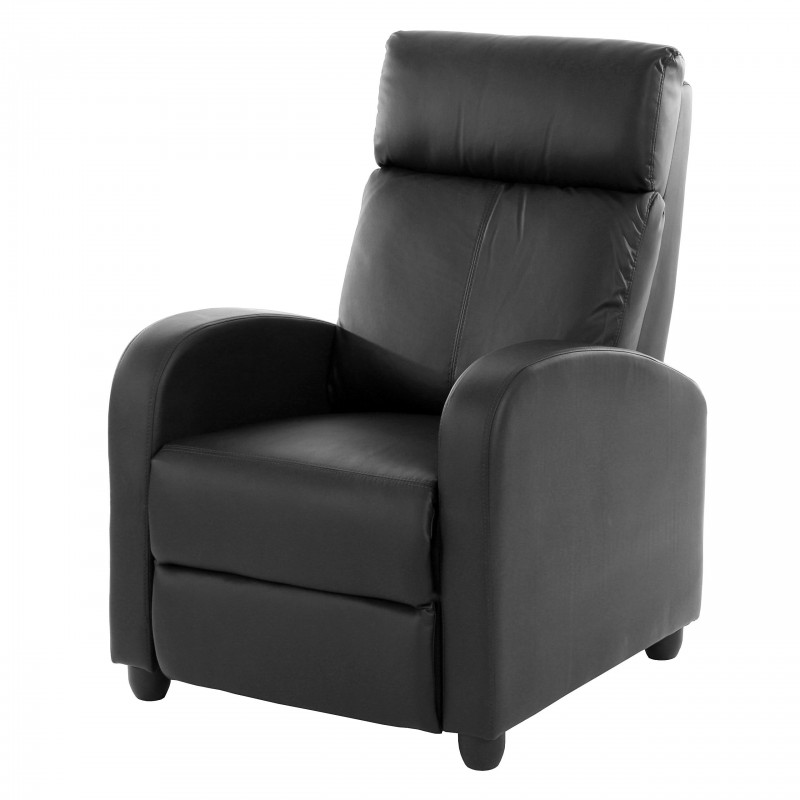 fauteuils chaise tv fauteuil inclinable fauteuil denver similicuir noir. Black Bedroom Furniture Sets. Home Design Ideas