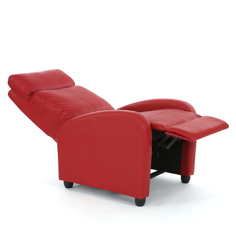 fauteuils chaise tv fauteuil inclinable fauteuil denver similicuir rouge. Black Bedroom Furniture Sets. Home Design Ideas