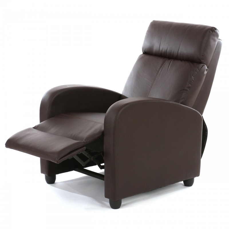 fauteuils chaise tv fauteuil inclinable fauteuil denver simili cuir brun. Black Bedroom Furniture Sets. Home Design Ideas