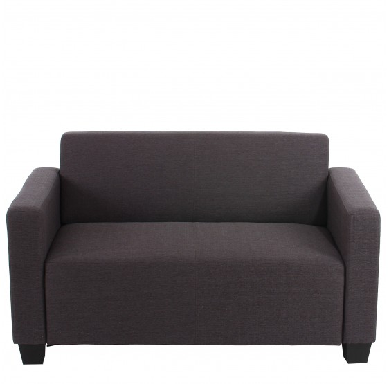 2 places canapé Lyon Loungesofa textile ~ anthracite