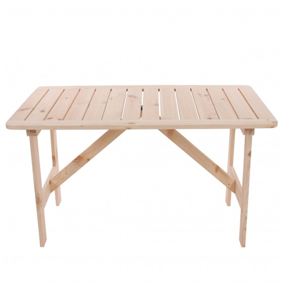 Table en bois naturel ARUM 130 x 80 cm