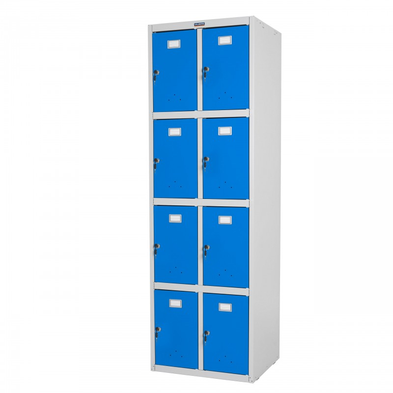 placards safe valberg casier vestiaire meuble double casier 183x58x50cm m tallique bleu. Black Bedroom Furniture Sets. Home Design Ideas