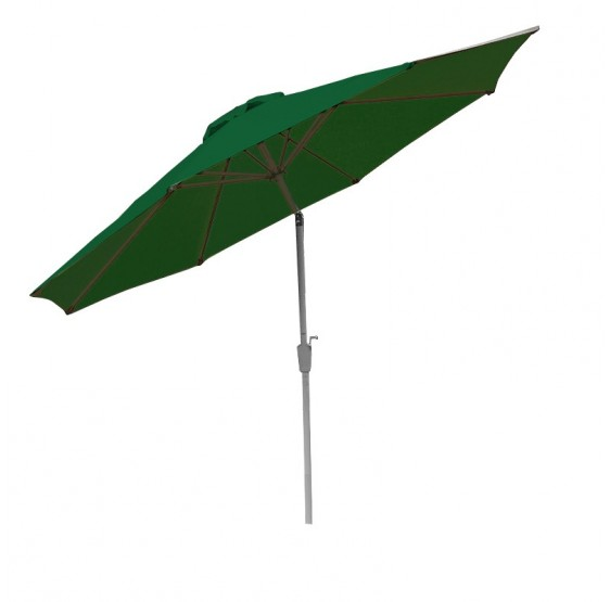 parasol Garden parasol Alu N19 300cm, inclinables inoxydable ~ vert