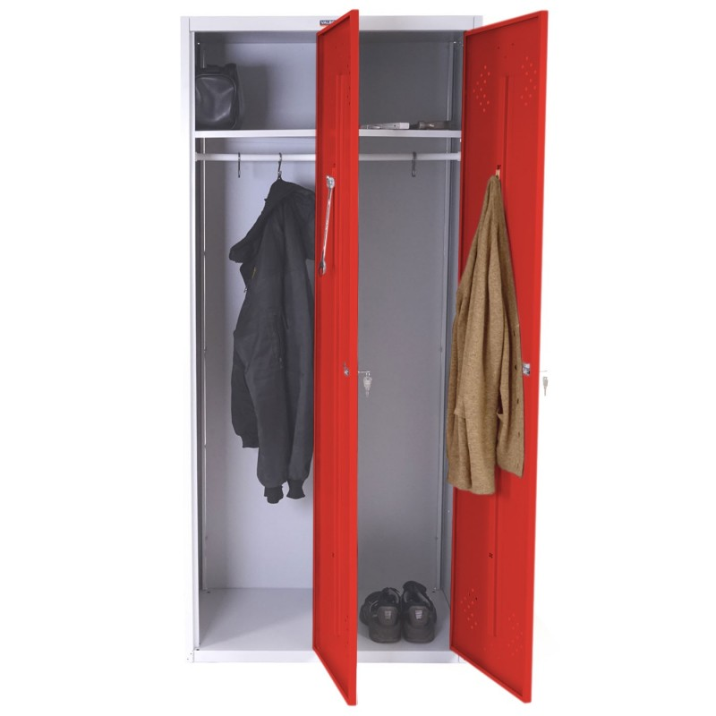placards double casier valberg casier vestiaire locker 183x81x50cm par asr rouge. Black Bedroom Furniture Sets. Home Design Ideas