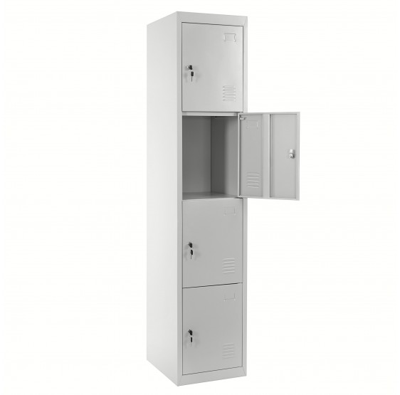 Locker Boston T163, le casier vestiaire casier casier, métal 180x38x45cm gris ~