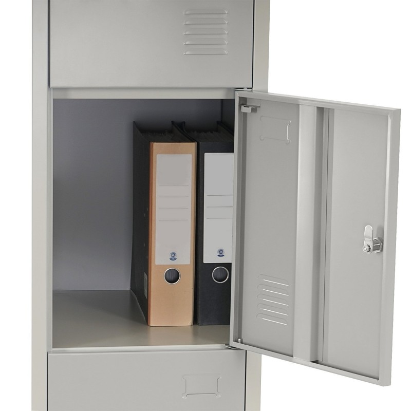 accueil locker boston t163 le casier vestiaire casier casier m tal 180x38x45cm gris. Black Bedroom Furniture Sets. Home Design Ideas
