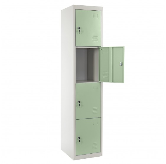 Locker Boston T163, le casier vestiaire casier casier, 180x38x45cm métallique ~ vert
