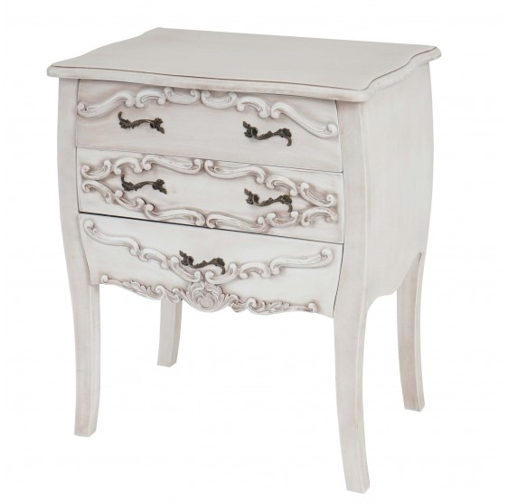 Commode TAOMINE, blanc antique