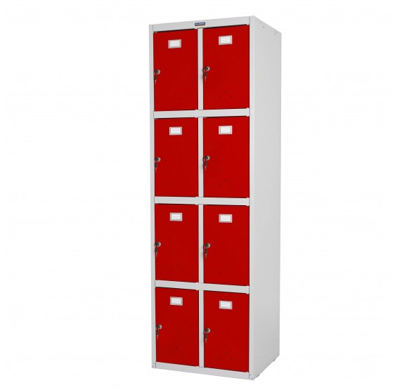 Safe Valberg T335, casier vestiaire armoire double casier, 183x58x50cm métallique ~ rouge