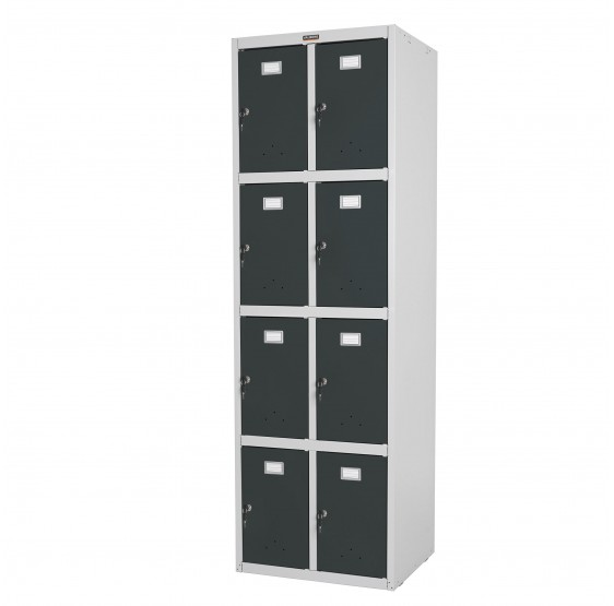 Safe Valberg T335, casier armoire double casier, métal 183x58x50cm anthracite ~