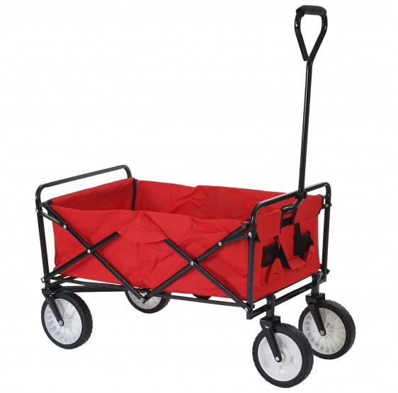 chariots pliables Morley, trolley dolly porte-bouteilles ~ rouge