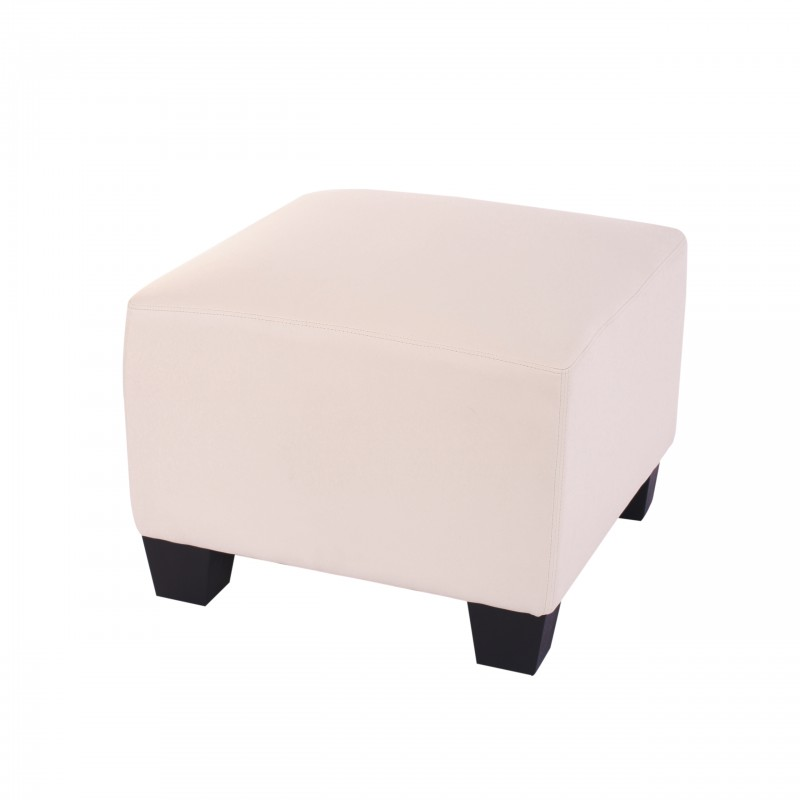 canap s modular pouf lyon cr me similicuir. Black Bedroom Furniture Sets. Home Design Ideas