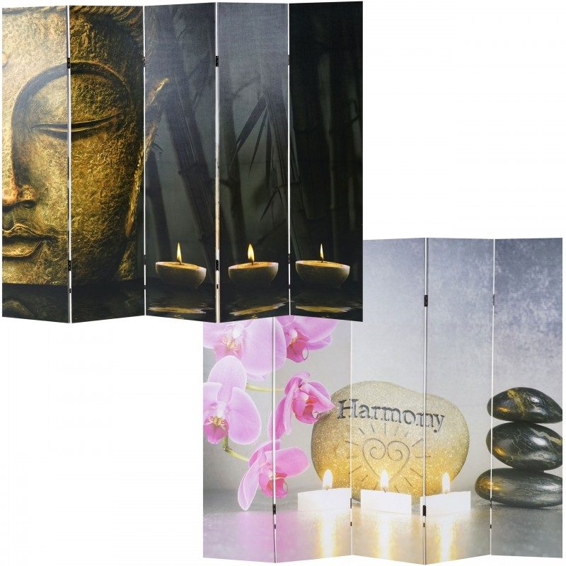 tableau et cadre cran de photo de bouddha paravent plaques de s paration de cloison 180x160 cm. Black Bedroom Furniture Sets. Home Design Ideas