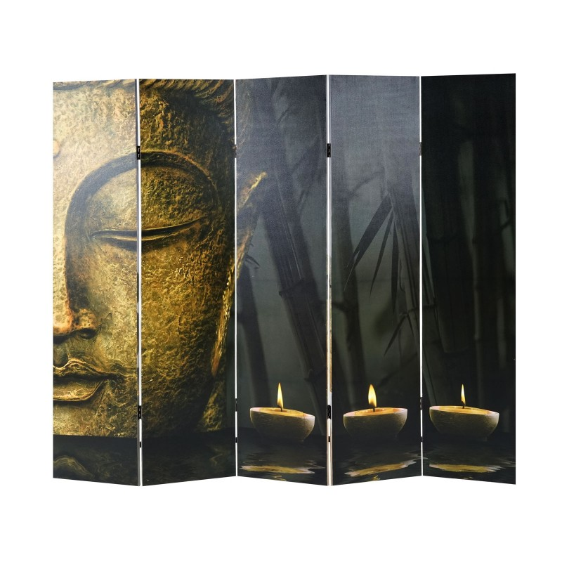 tableau et cadre cran de photo partition bouddha s parateur de piece de paravent 180x200 cm. Black Bedroom Furniture Sets. Home Design Ideas