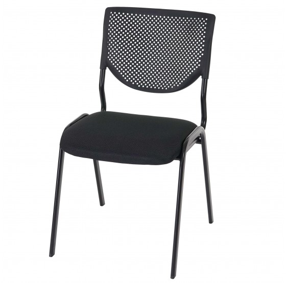 Lot de 4 chaises noires empilables