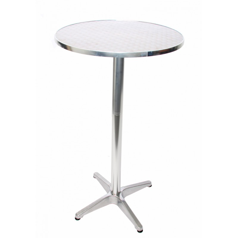 Tables de bar aluminium table de bar table de bistro et Table d appoint reglable en hauteur