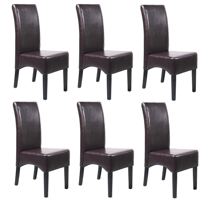 chaises simili cuir conceptions de maison. Black Bedroom Furniture Sets. Home Design Ideas