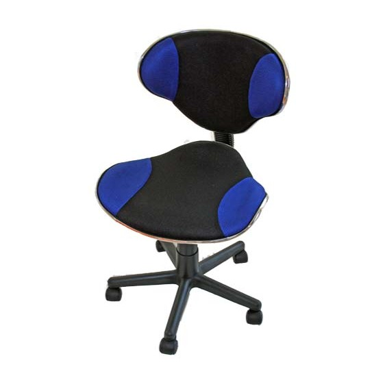chaise de bureau chaise de bureau vulcano pivotante bicolore noir et bleu. Black Bedroom Furniture Sets. Home Design Ideas