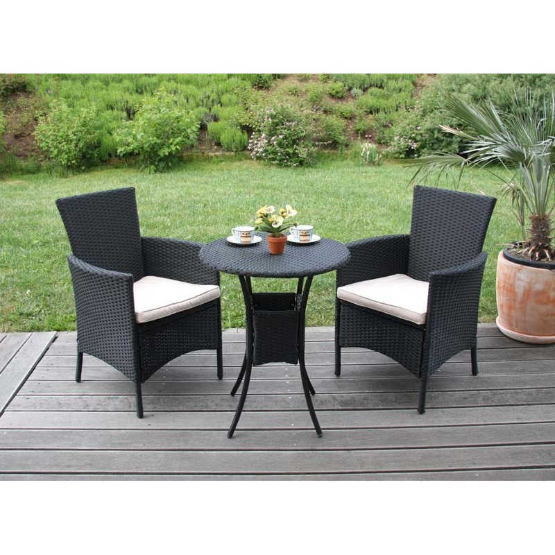 fauteuils fauteuil de jardin chaises en osier romv polyrotin anthracite 85 5x61x60 cm. Black Bedroom Furniture Sets. Home Design Ideas