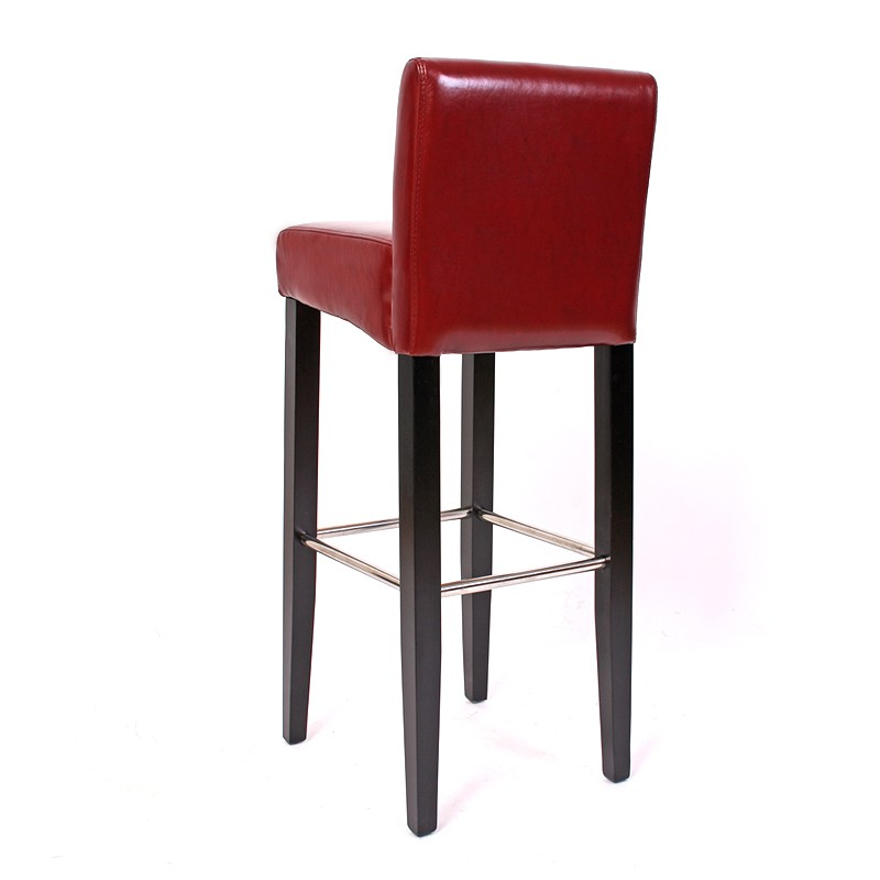 tabouret de bar lot de 2 bar bar tabouret n25 cuir 10lot de 24lot de 437 cm rouge. Black Bedroom Furniture Sets. Home Design Ideas