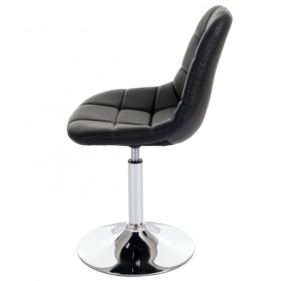 6x manger chaise Cascina, chaise, pivotant, chrome ~ similicuir noir