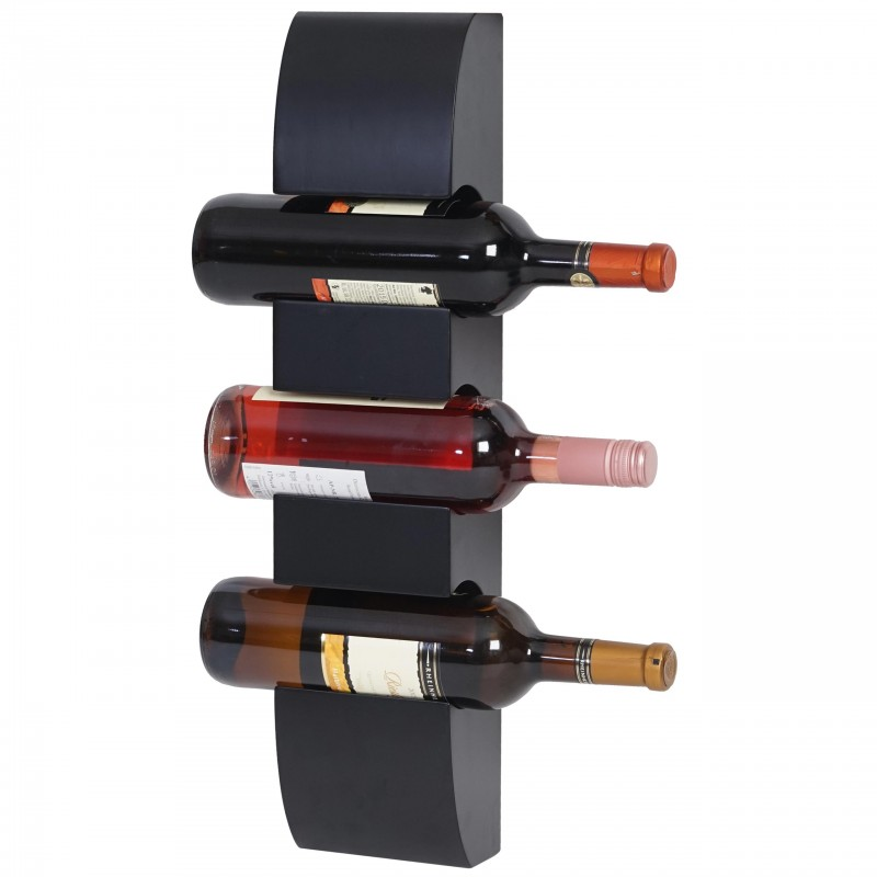 casier vin colmar wine rack tag re murale bouteille en bois holder 54x13x9cm pour 3. Black Bedroom Furniture Sets. Home Design Ideas