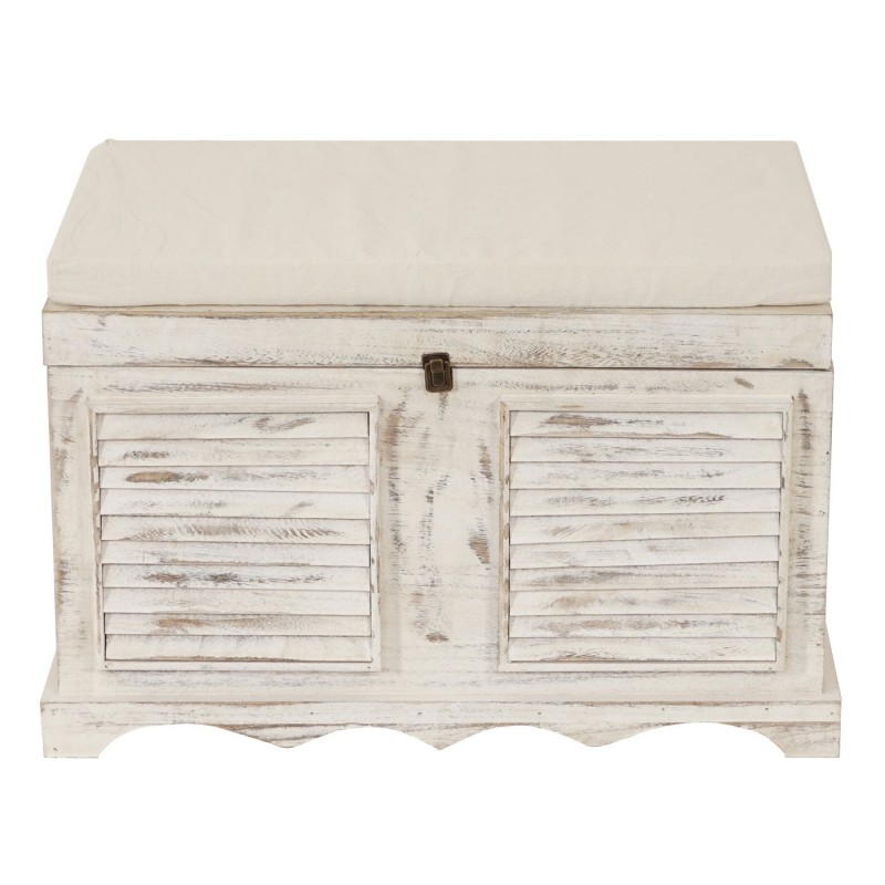 vintage holztruhe coffre de rangement de bench shabby. Black Bedroom Furniture Sets. Home Design Ideas