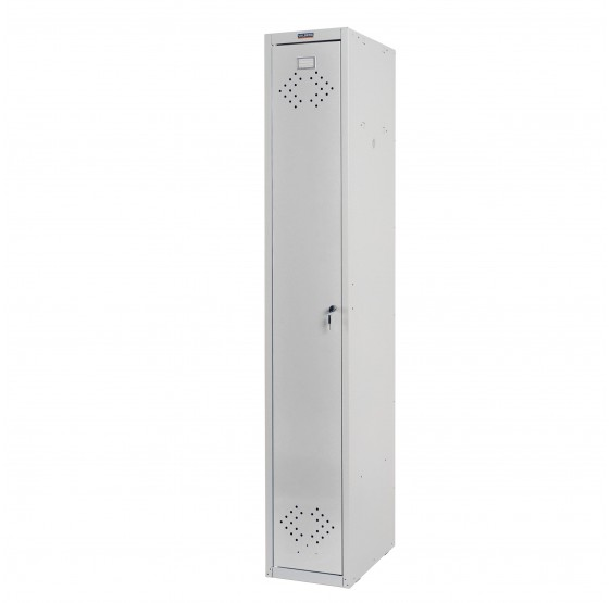 Locker Valberg casier armoire de personnel de casier, 183x30x50cm par ASR ~ gris