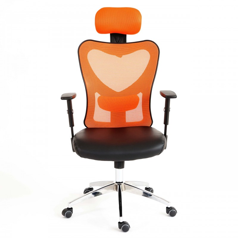 chaise de bureau chaise de bureau milos pivotante orange et noire. Black Bedroom Furniture Sets. Home Design Ideas